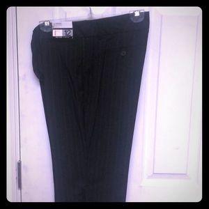 New York & Co grey pinstripe slacks size 12P